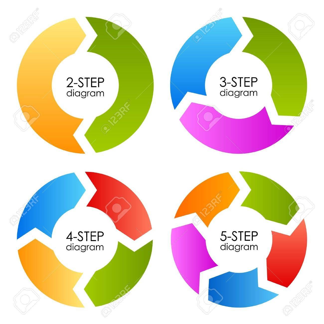 Process cycling arrow by arrow royalty free stock images image - Process Arrows Cycle Process Diagrams Set Vector Illustration