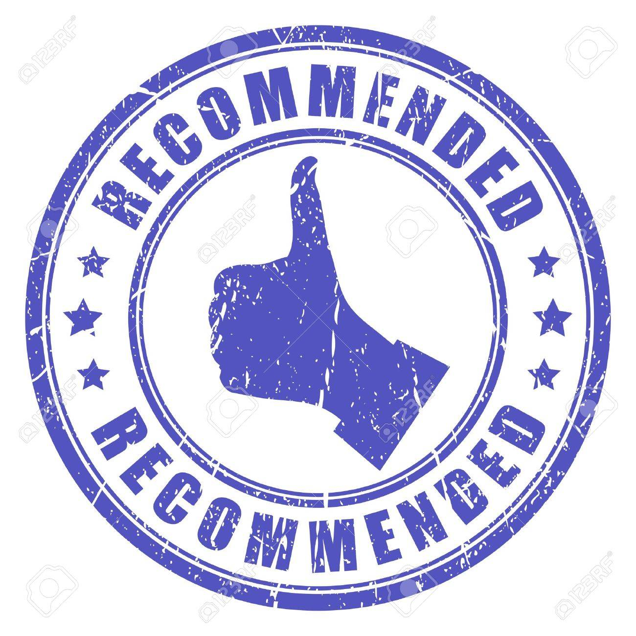 Vector recommended stamp Recommendation Stamp