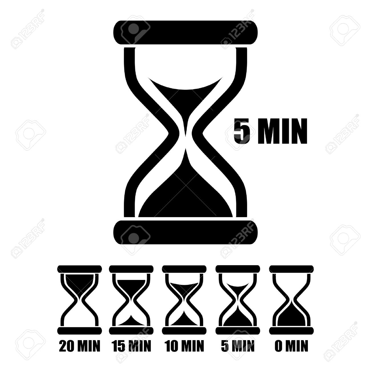 Vector Sand Glass Timer Royalty Free Cliparts, Vectors, And Stock ...