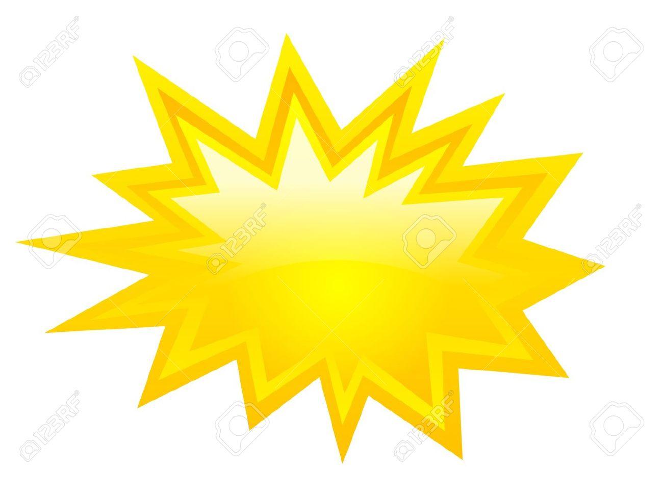Yellow bursting icon, vector clip art Stock Vector - 19397640
