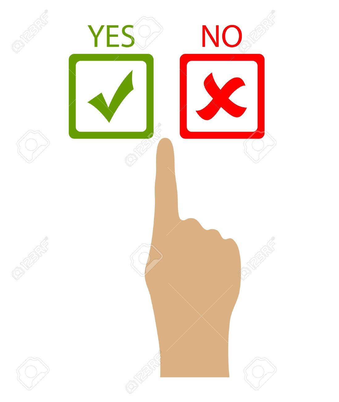 choose yes or no vector clip art royalty free cliparts vectors rh 123rf com no clip art in word no clip art in outlook