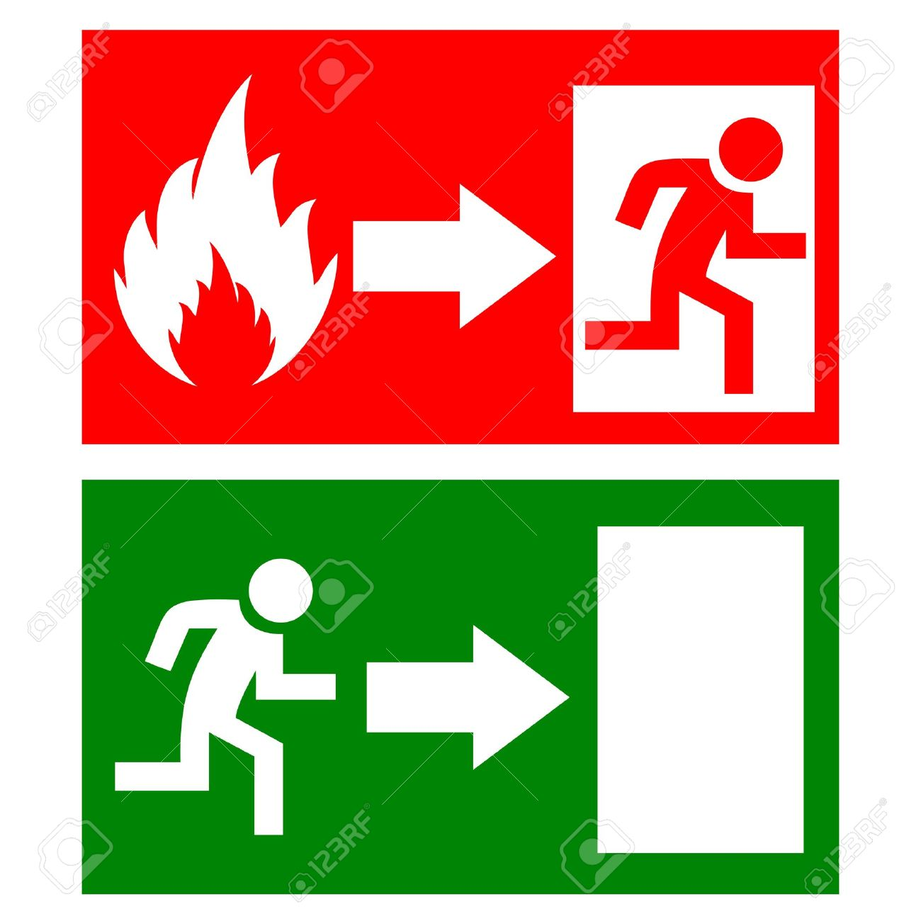 Fire exit signs Stock Vector - 20201817