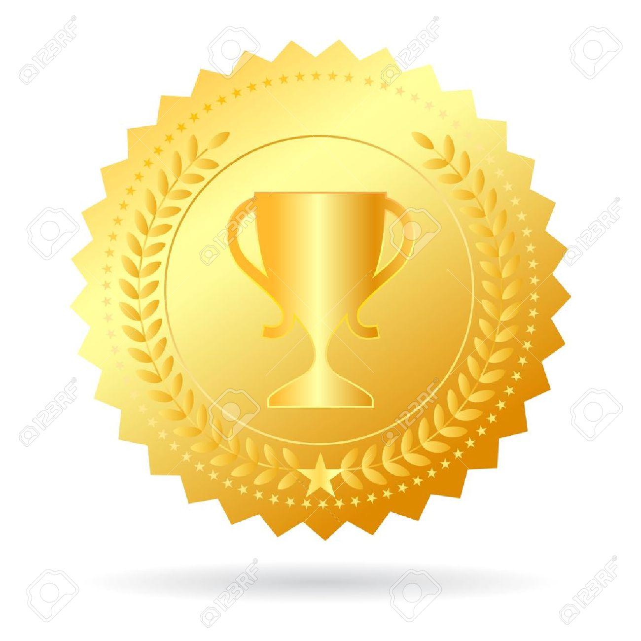 Champion gold medal illustration Stock Vector - 22071915