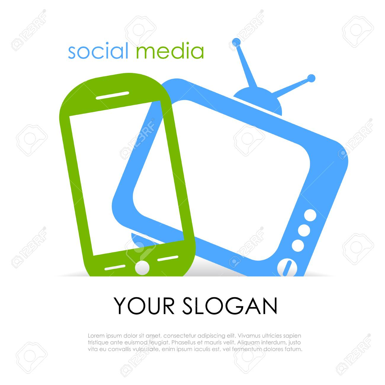 Media poster Stock Vector - 22225524