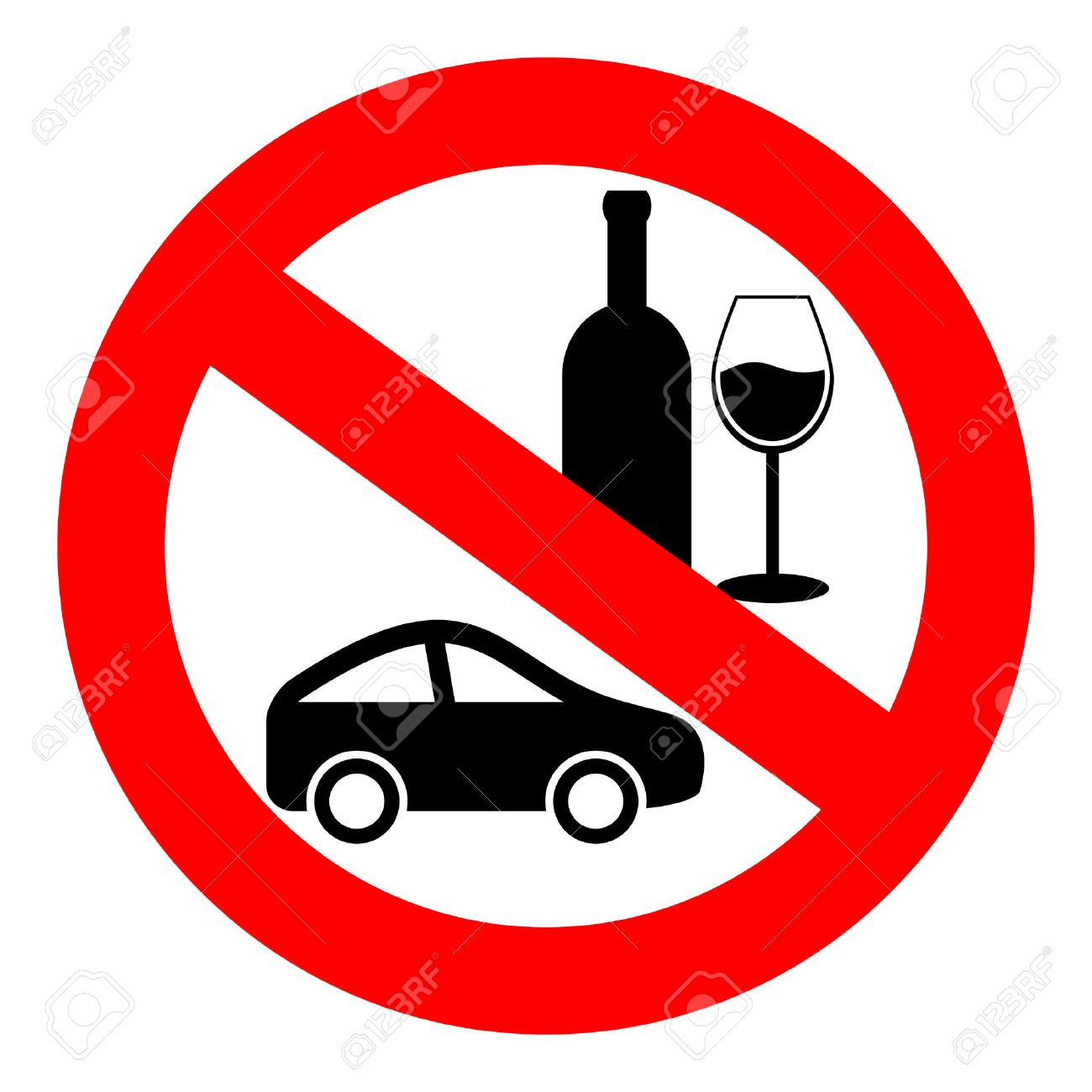No drink and drive sign Stock Vector - 23071308