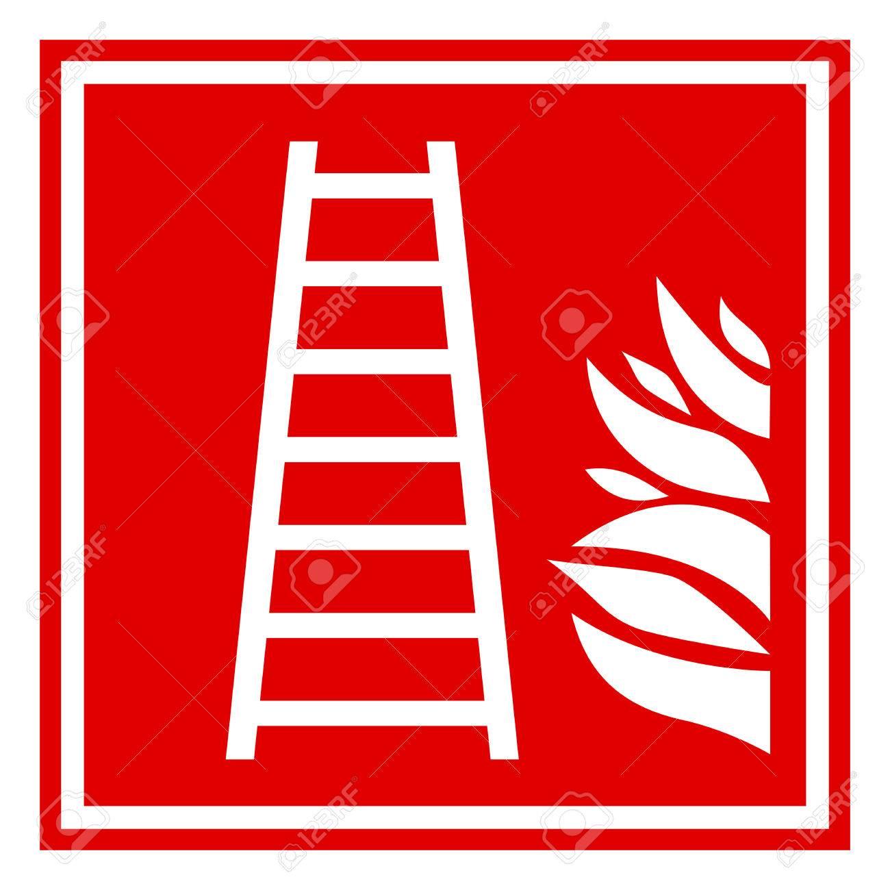 Fire ladder sign Stock Vector - 25466759