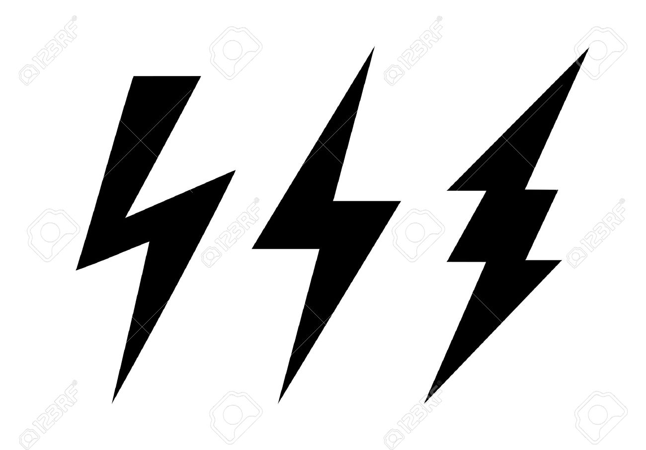 lightning icon royalty free cliparts vectors and stock rh 123rf com vector image of lightning bolt vector lightning bolt free