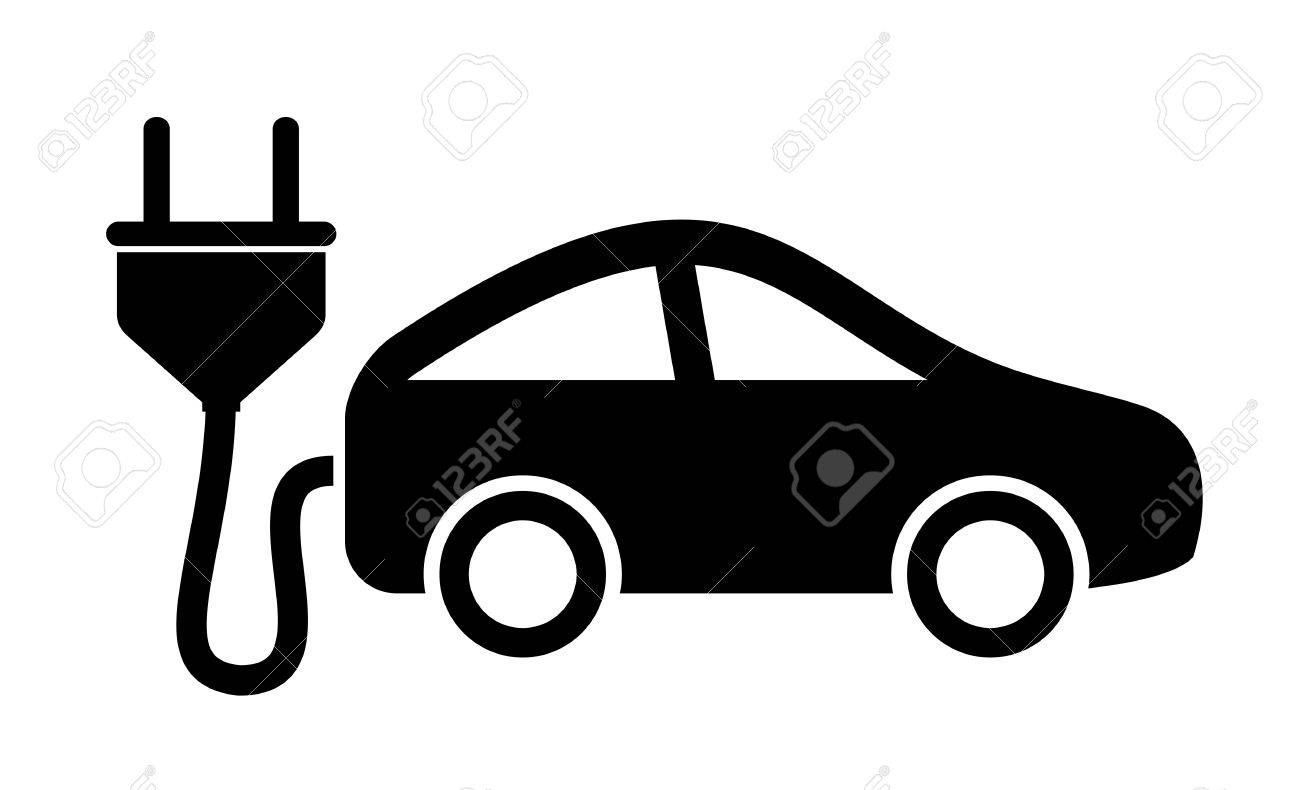 Electric Car Icon Royalty Free Cliparts Vectors And Stock
