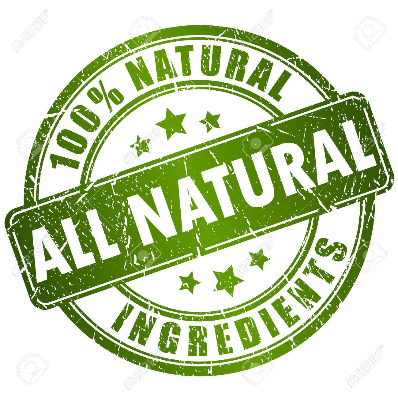 Natural ingredients stamp - 33639130