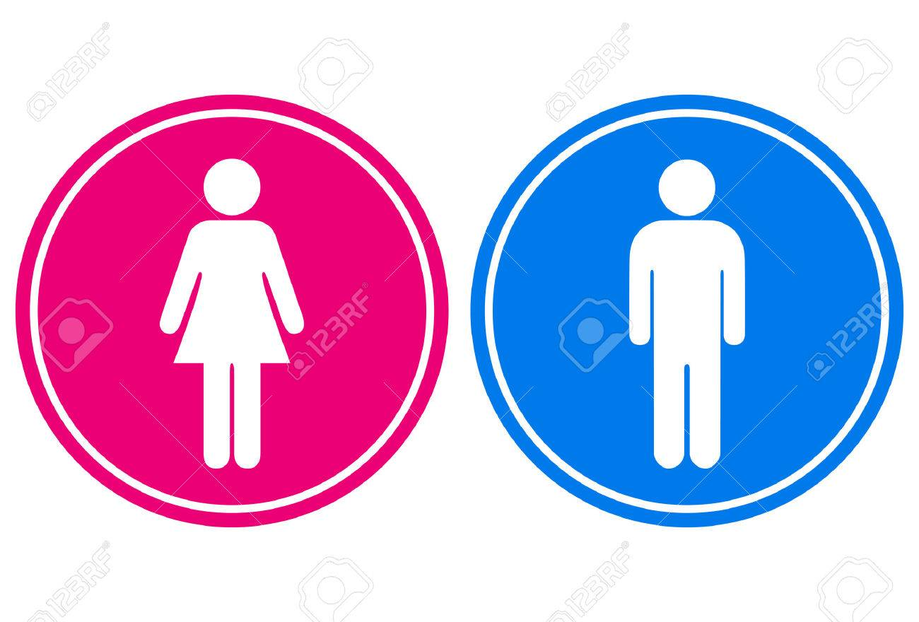 Man And Woman Sign Royalty Free Cliparts, Vectors, And Stock ...