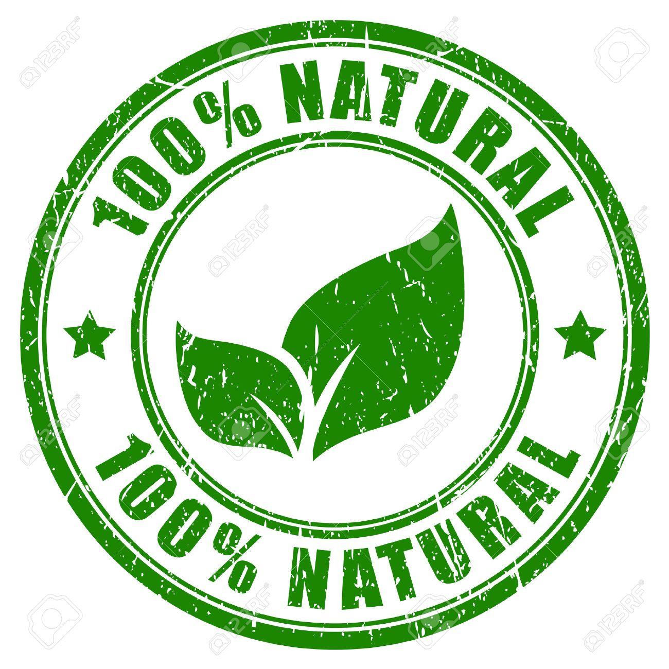 100 natural stamp - 35086830