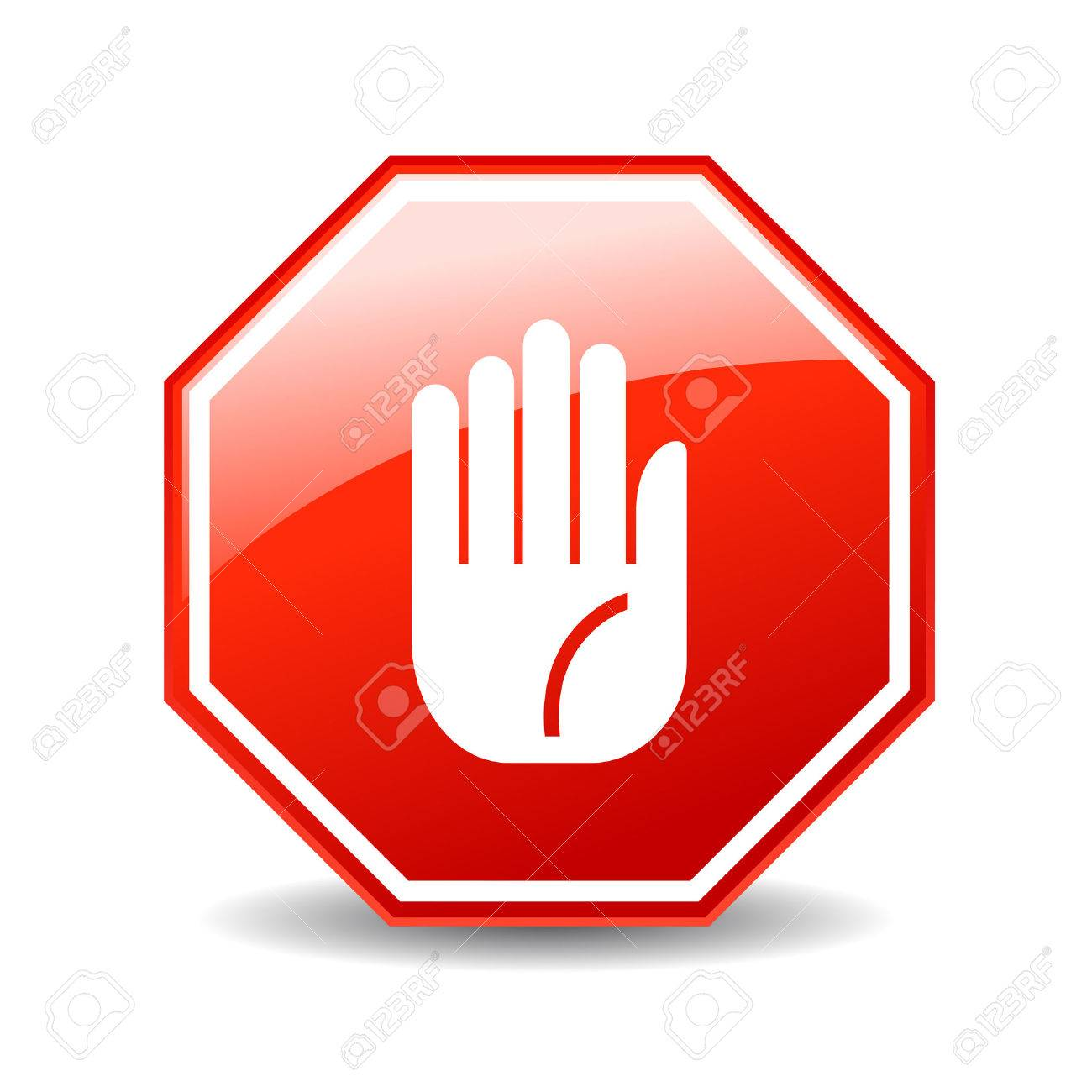 31586 Stop Hand Stock Vector Illustration And Royalty Free Stop