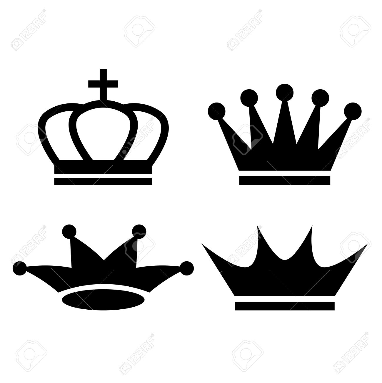 king crown icon royalty free cliparts vectors and stock rh 123rf com king's crown vector image Black and White King Crown