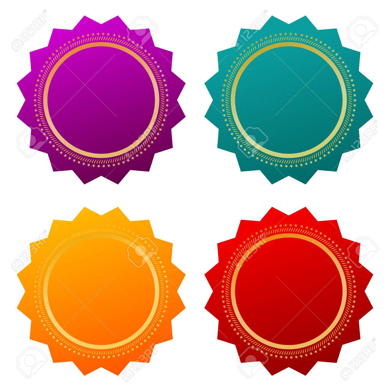 Blank Certificate Seals Royalty Free Cliparts Vectors And Stock