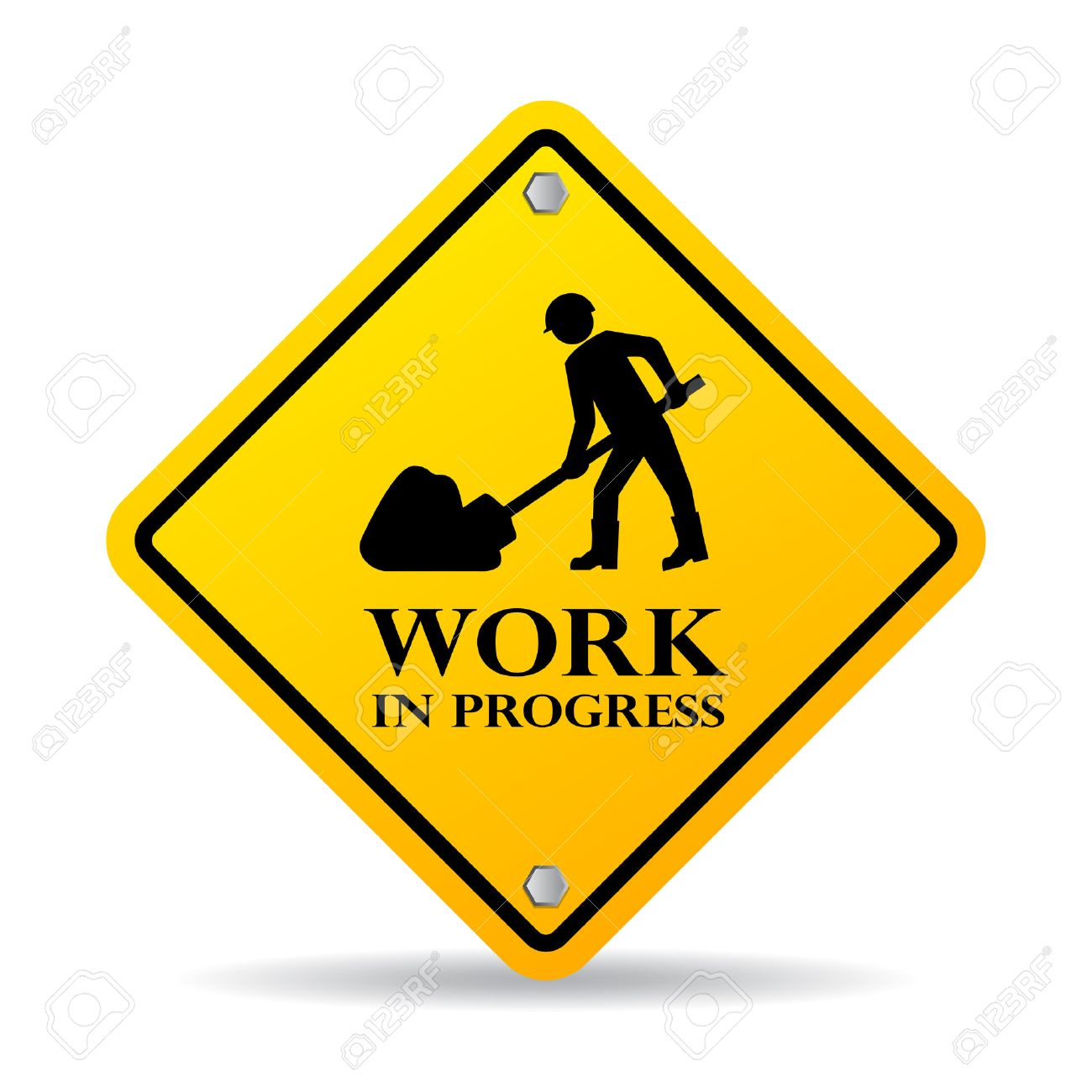 work in progress sign royalty free cliparts vectors and stock