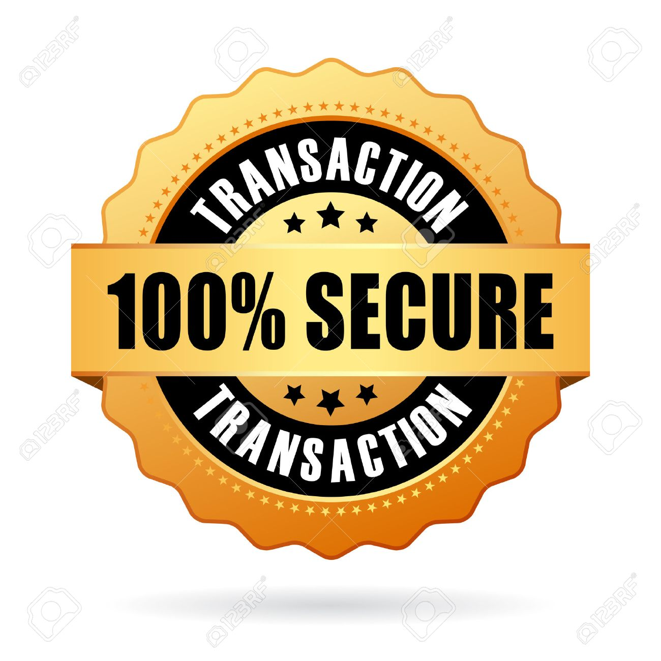 100 secure transaction icon - 44235069