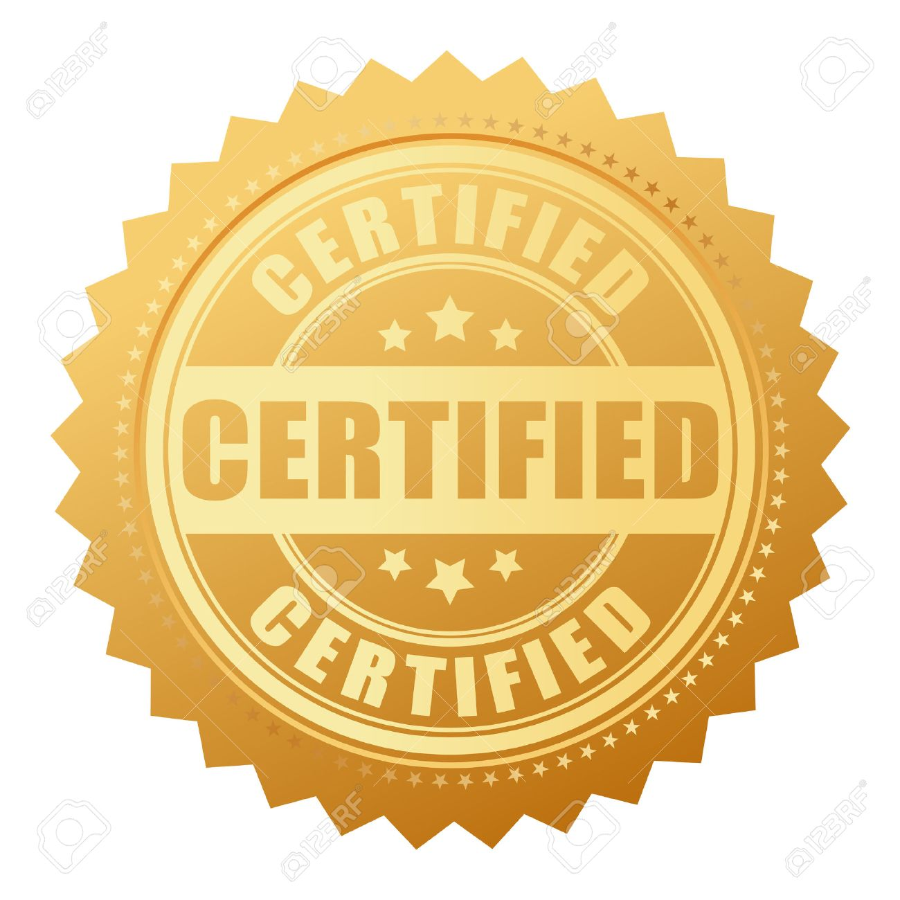 Certified Gold Seal Royalty Free Cliparts, Vectors, And Stock Illustration.  Image 46534837.