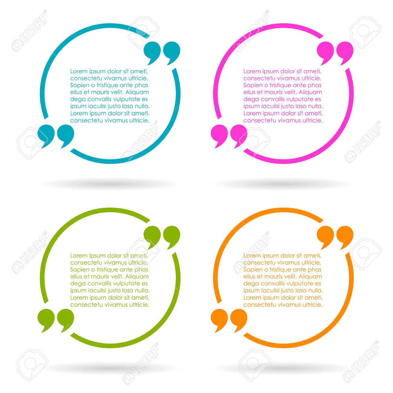 Round Quote Text Frames Royalty Free Cliparts, Vectors, And Stock ...