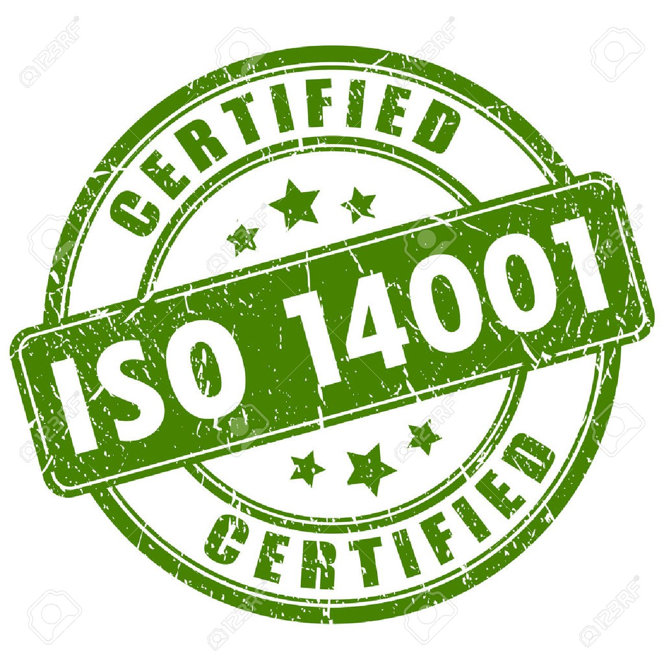 Iso 14001 certified stamp - 47589076