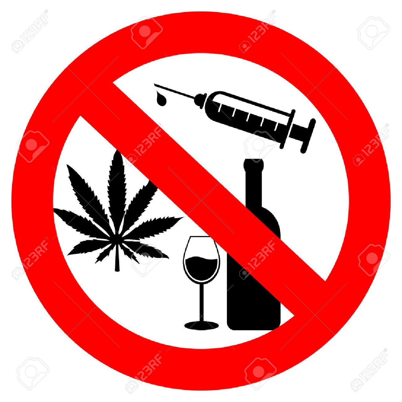 no drugs and alcohol sign royalty free cliparts vectors and stock rh 123rf com drug dealer clipart drug dealer clipart