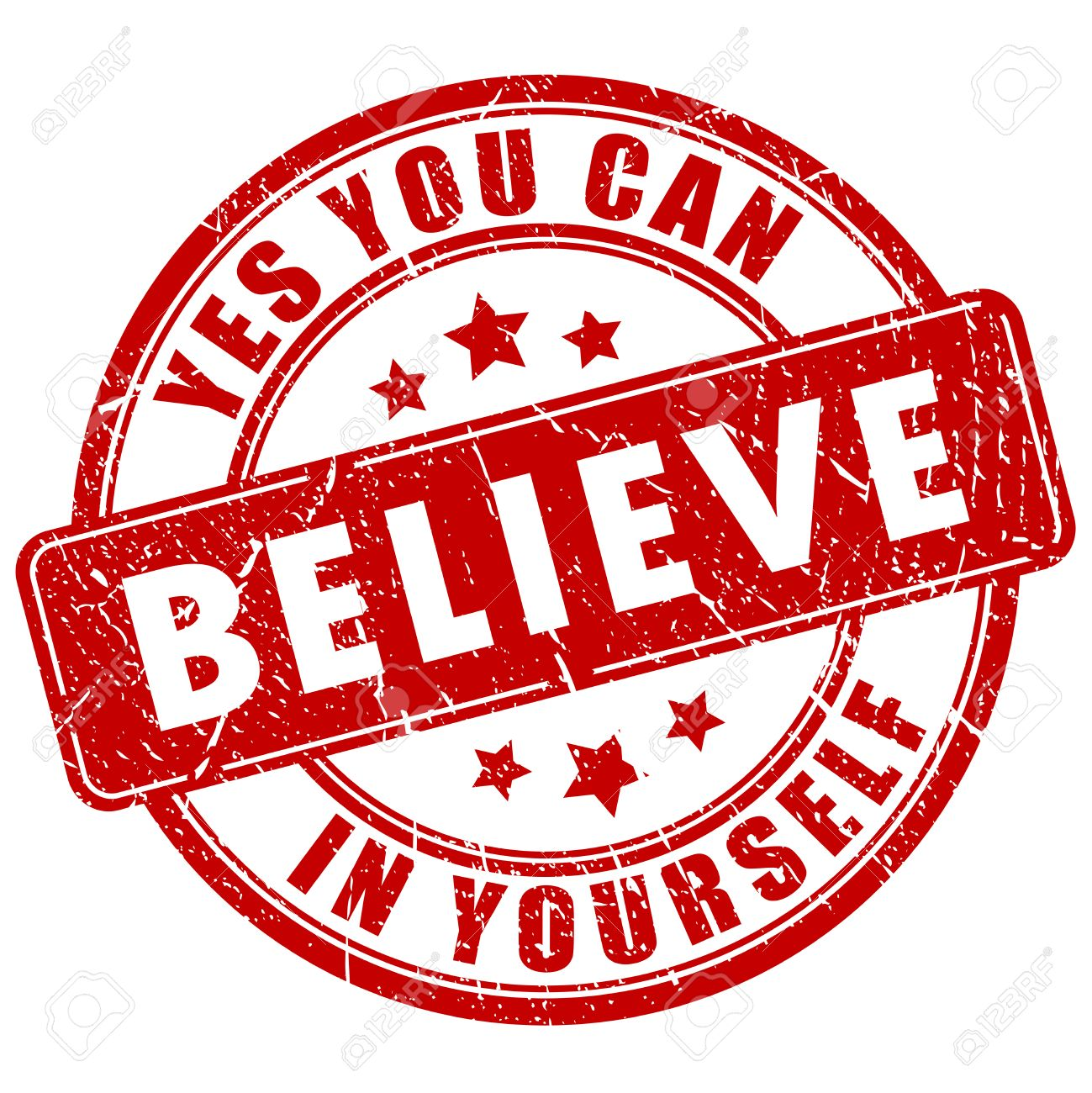 Believe In Yourself Motivational Stamp Royalty Free Cliparts
