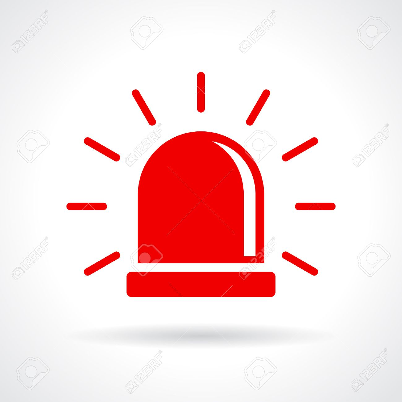 Red Flashing Light Icon Royalty Free Cliparts, Vectors, And Stock ... for Warning Light Clipart  579cpg