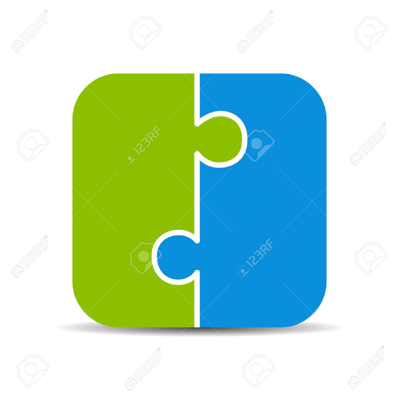 Two piece puzzle diagram royalty free cliparts vetores e imagens two piece puzzle diagram ccuart Choice Image