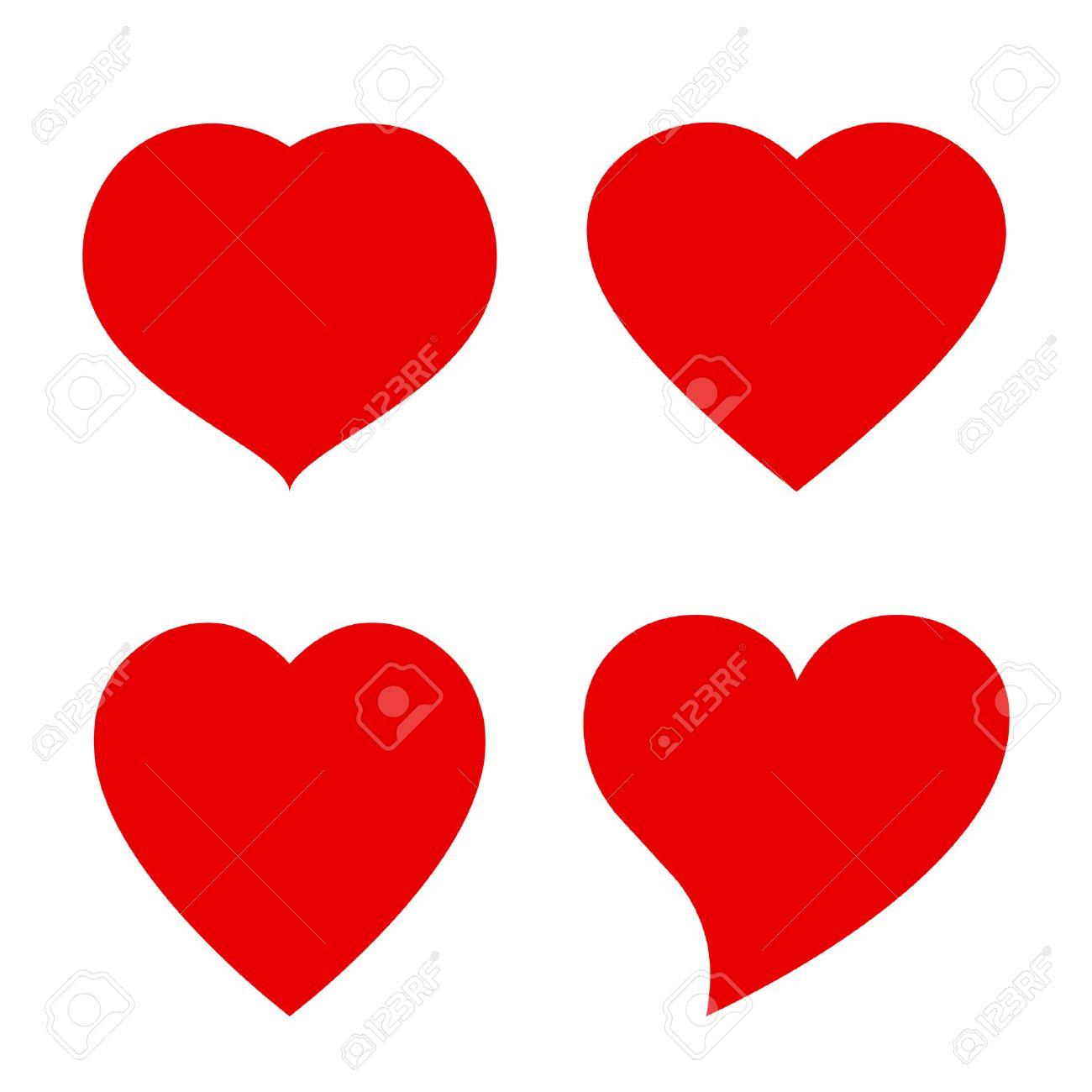 Vector heart shape icon - 52082768