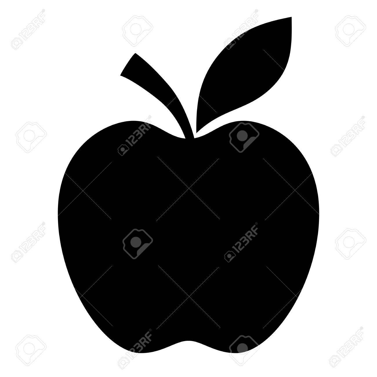 Apple black silhouette - 52082972