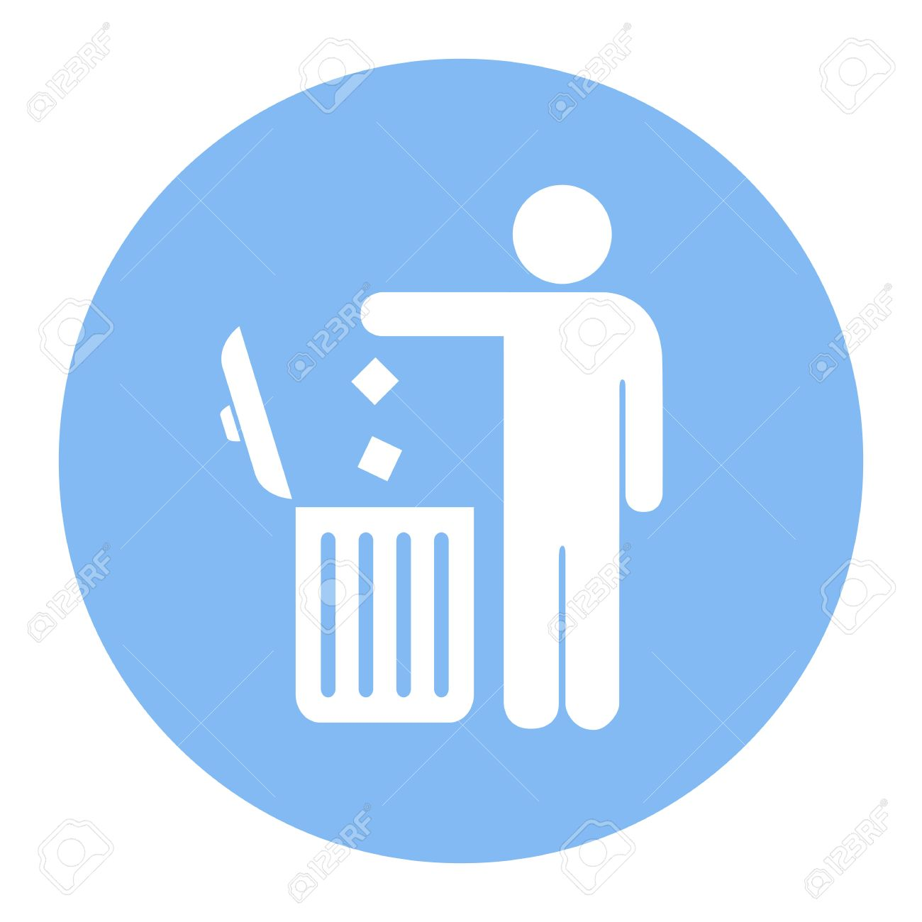 No Littering Use Trash Can Vector Icon