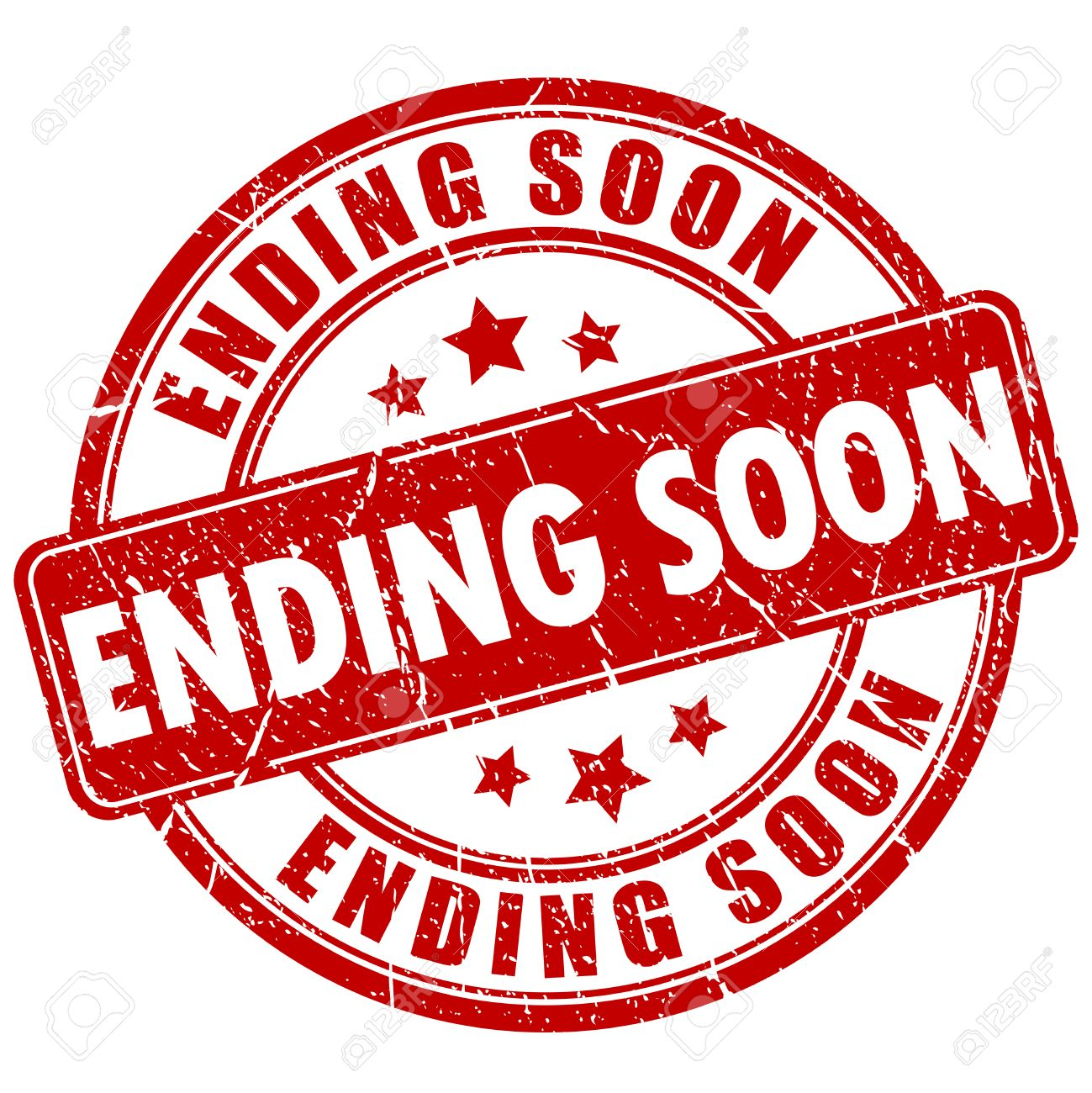 Ending soon rubber stamp - 53258433