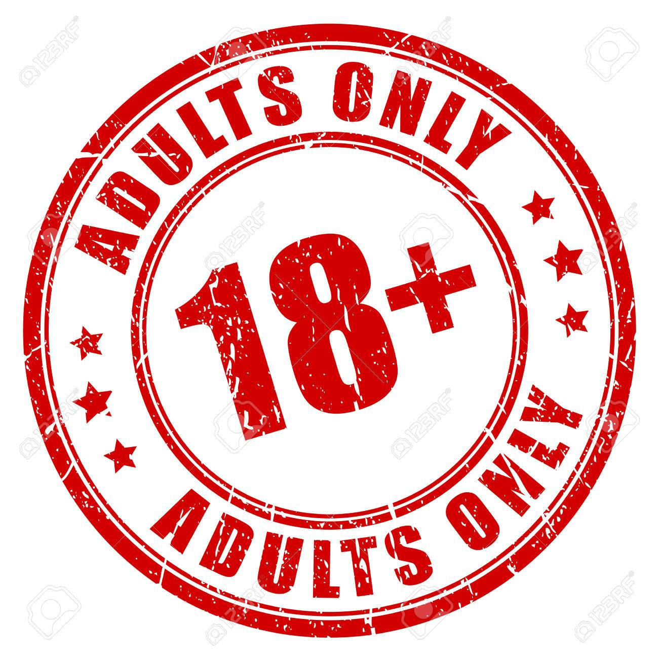 Under 18 rubber stamp, adults only - 55145293