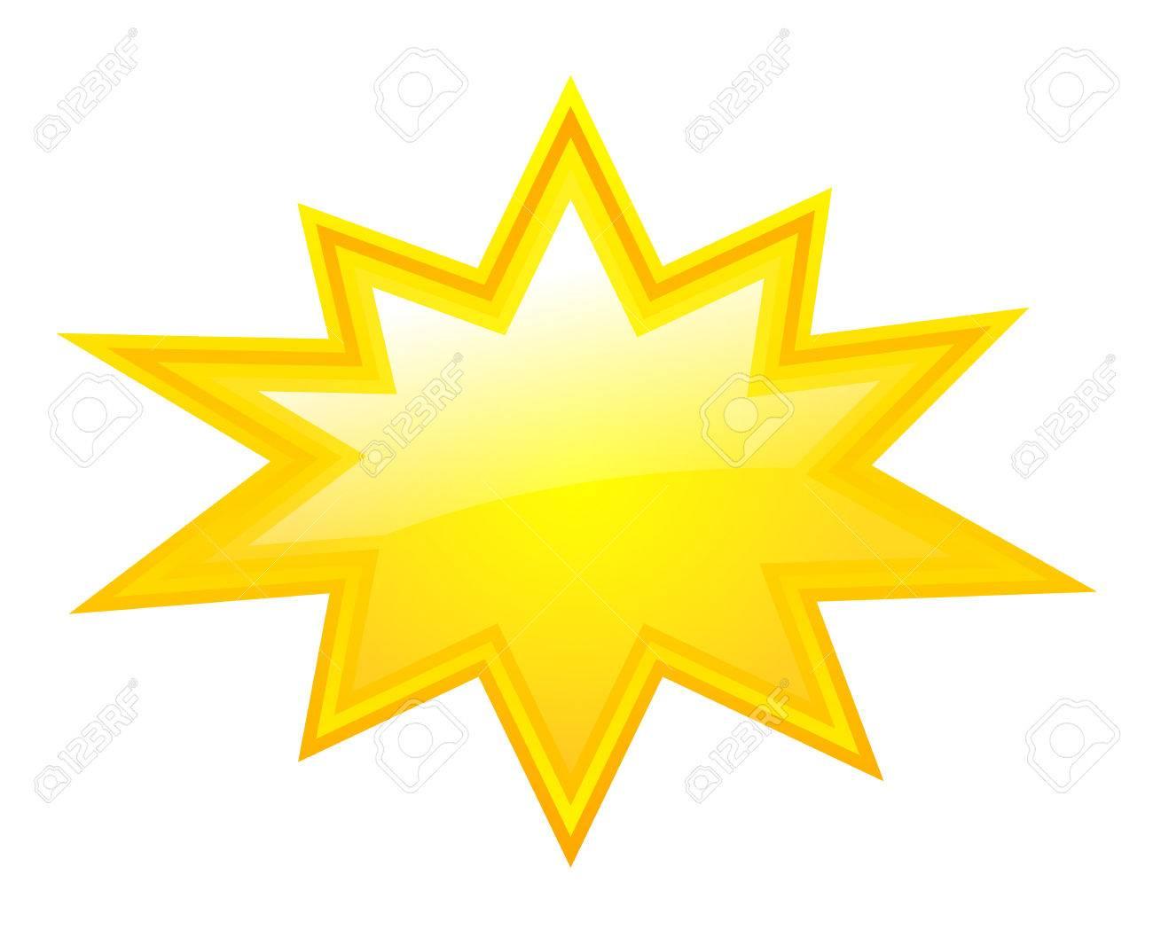 Yellow bursting star - 55352997