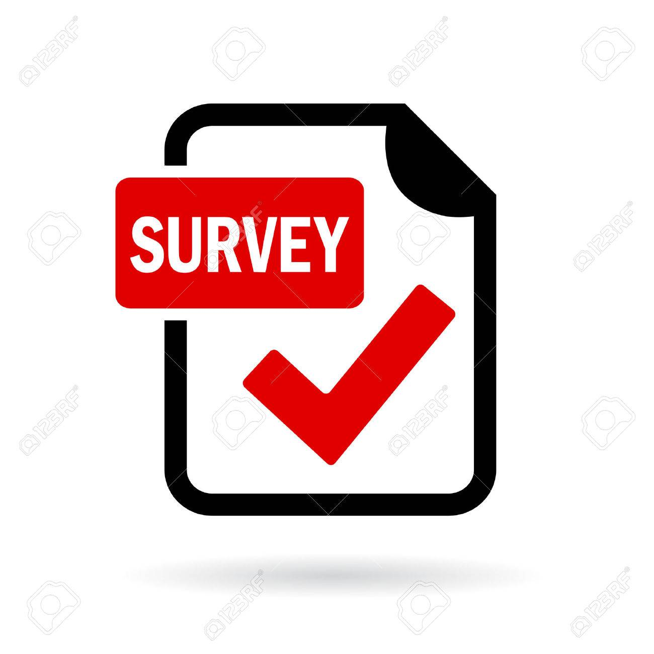 Survey red icon - 56195074