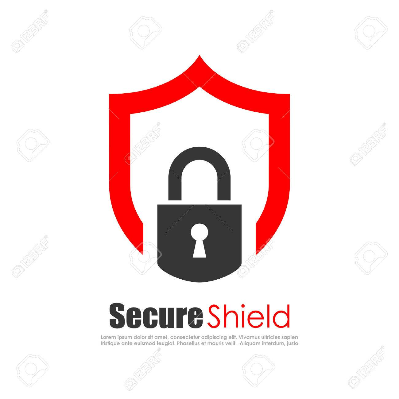 Secure protection abstract logo - 57297316