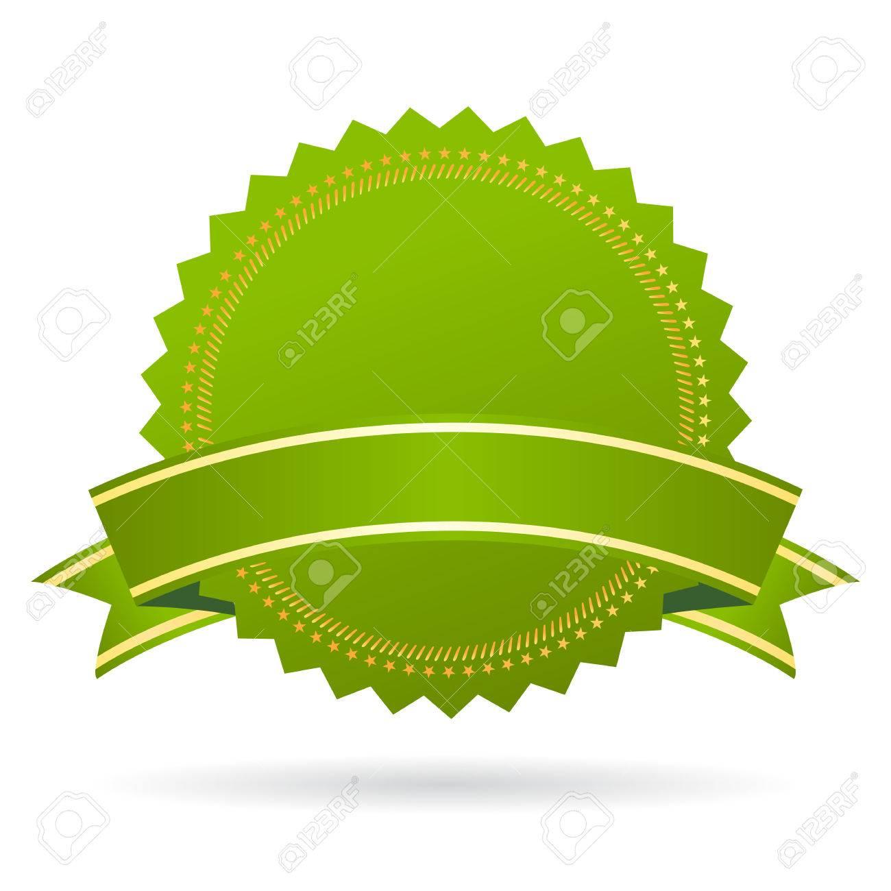 Green certificate seal - 57592239