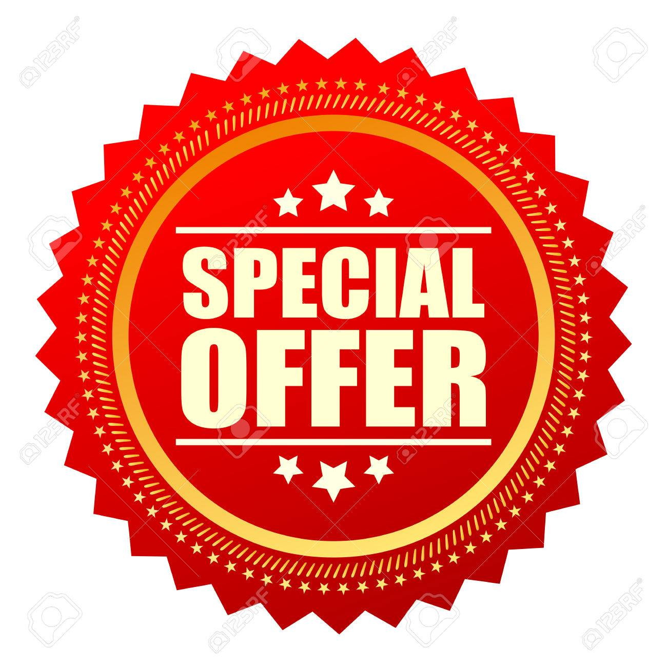 Special offer red star icon - 59113161