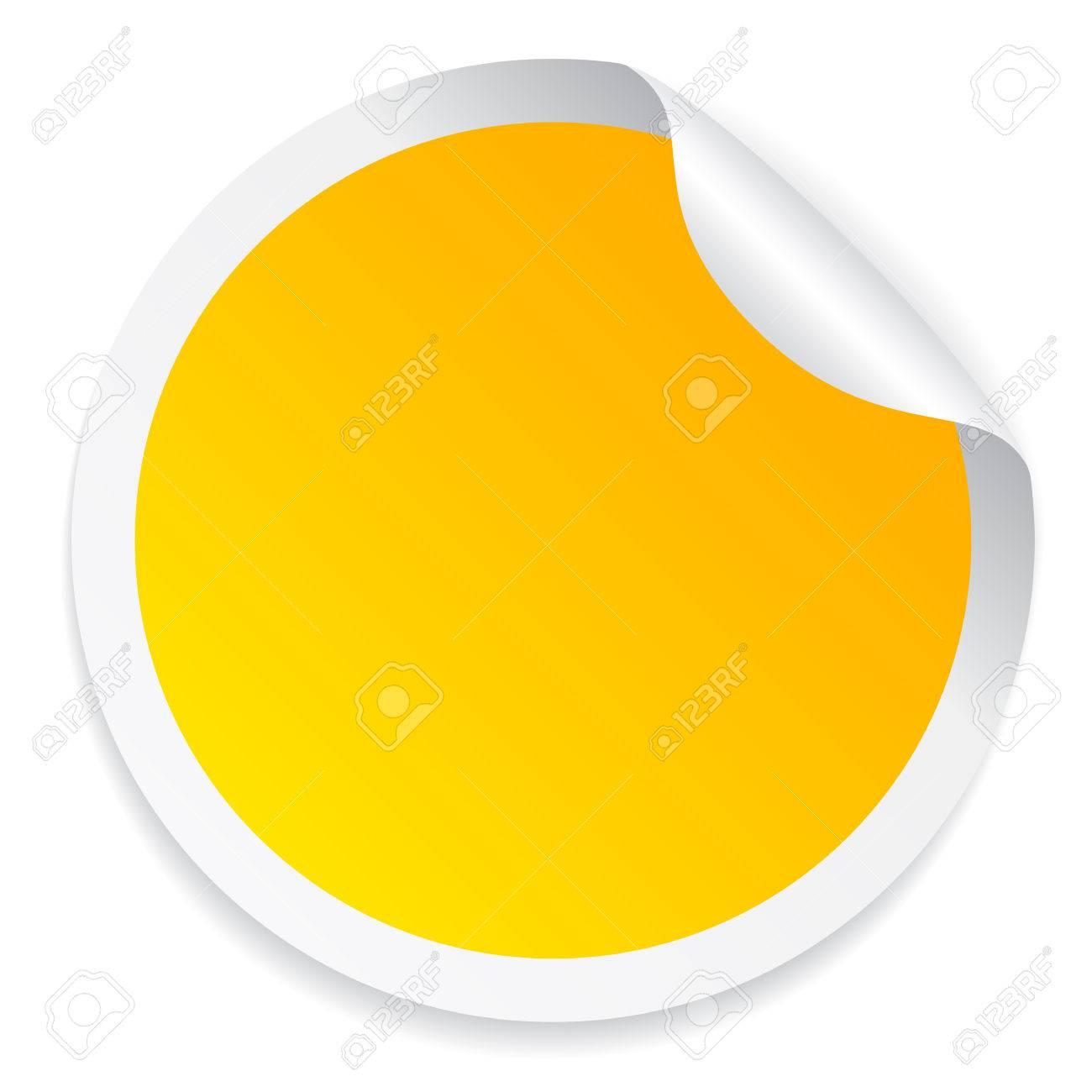 Round yellow sticker - 59213876
