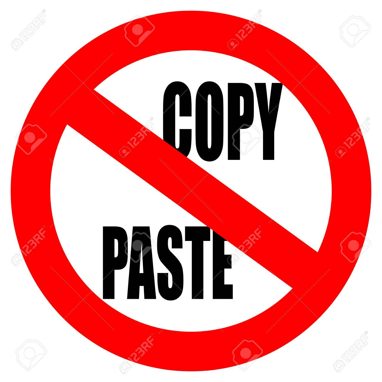 No Copy Paste Sign Royalty Free Cliparts Vectors And Stock