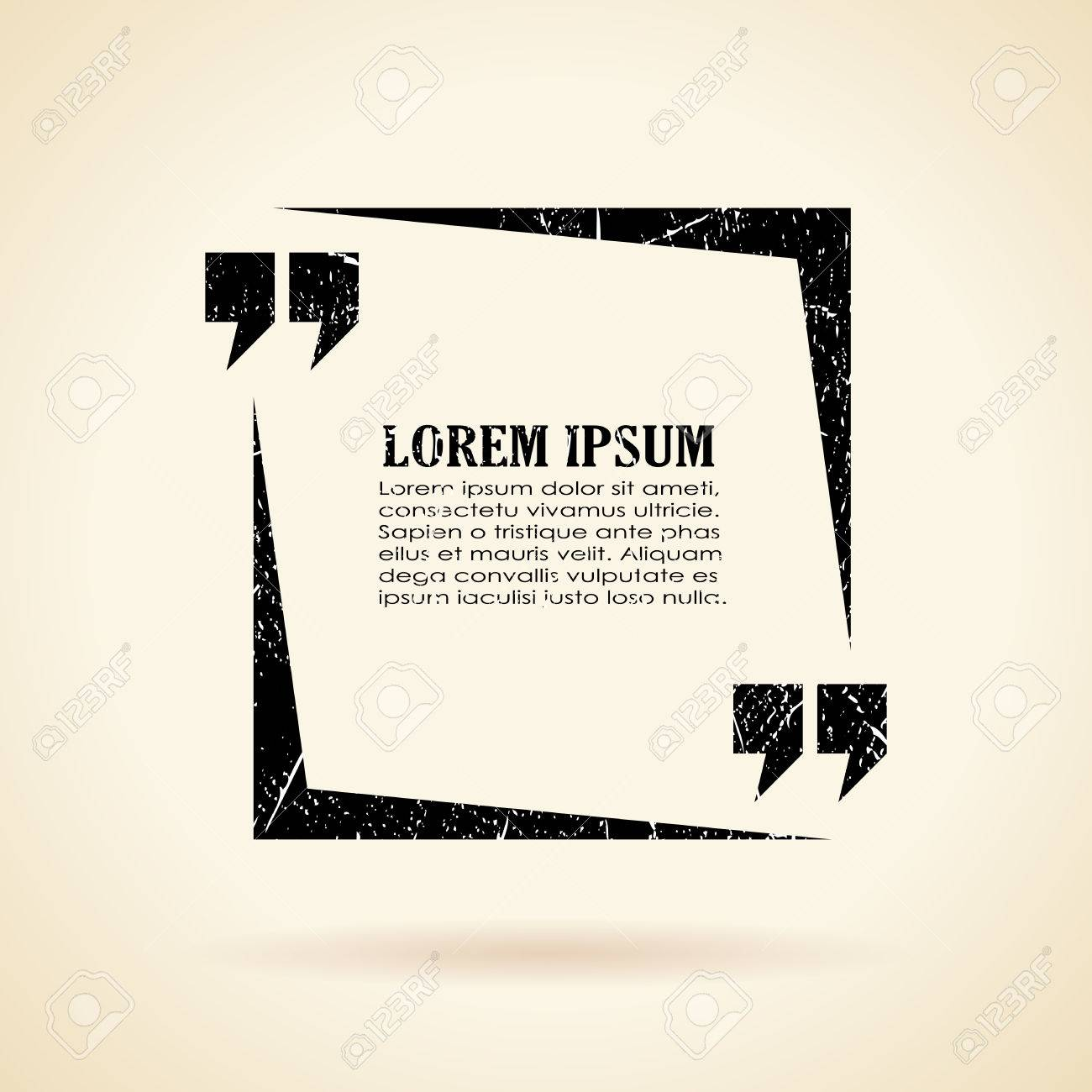 Text Quote Frame Royalty Free Cliparts, Vectors, And Stock ...
