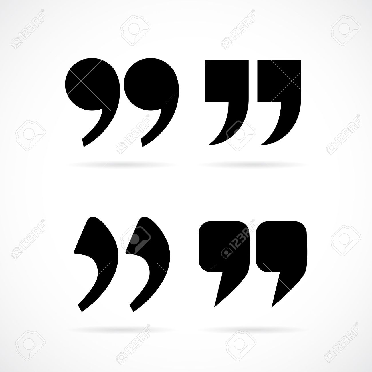 Stock illustration 3d red text quot yes quot stock illustration royalty - Comma Commas Speech Marks