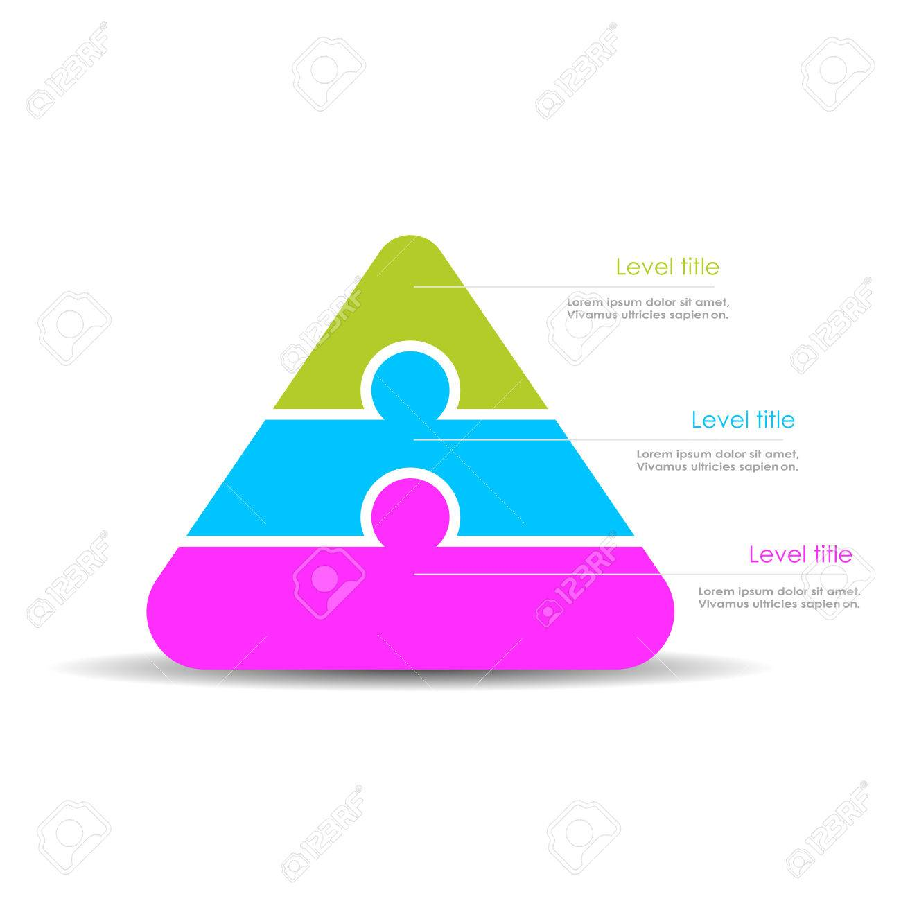 pyramid diagram template royalty free cliparts vectors and stock