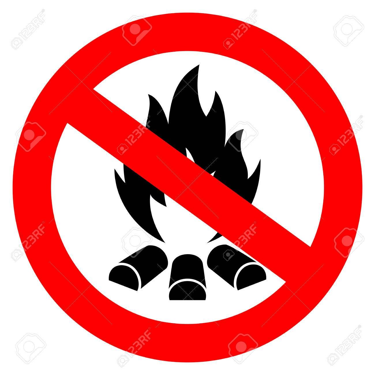 No open fire vector sign - 64138359