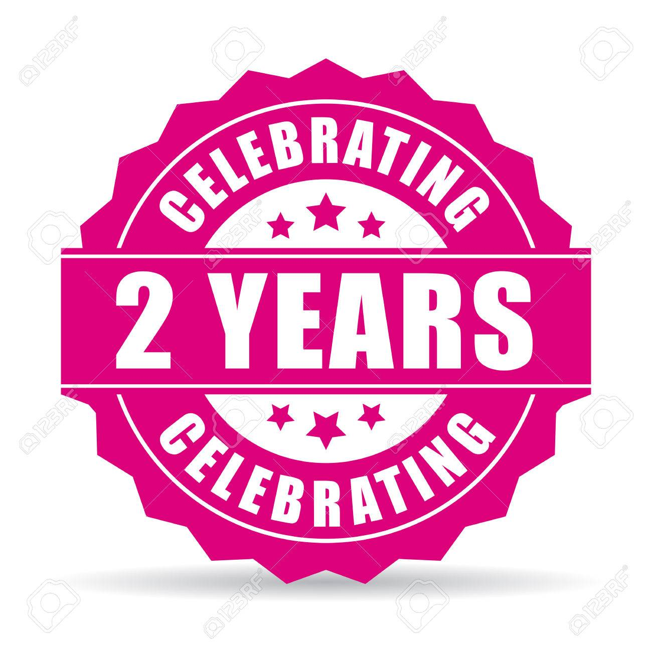 Two Years Anniversary Celebrating Icon Royalty Free Cliparts Vectors And Stock Illustration Image 66779612