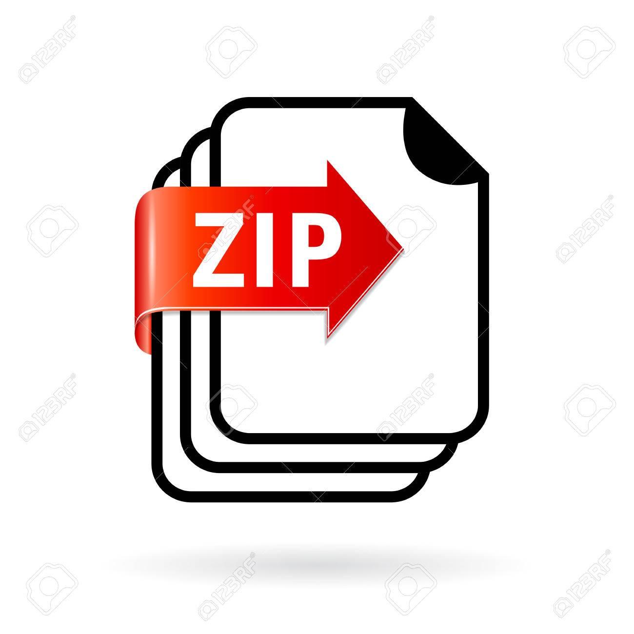 アーカイブ zip ファイルのアイコン ロイヤリティフリークリップアート