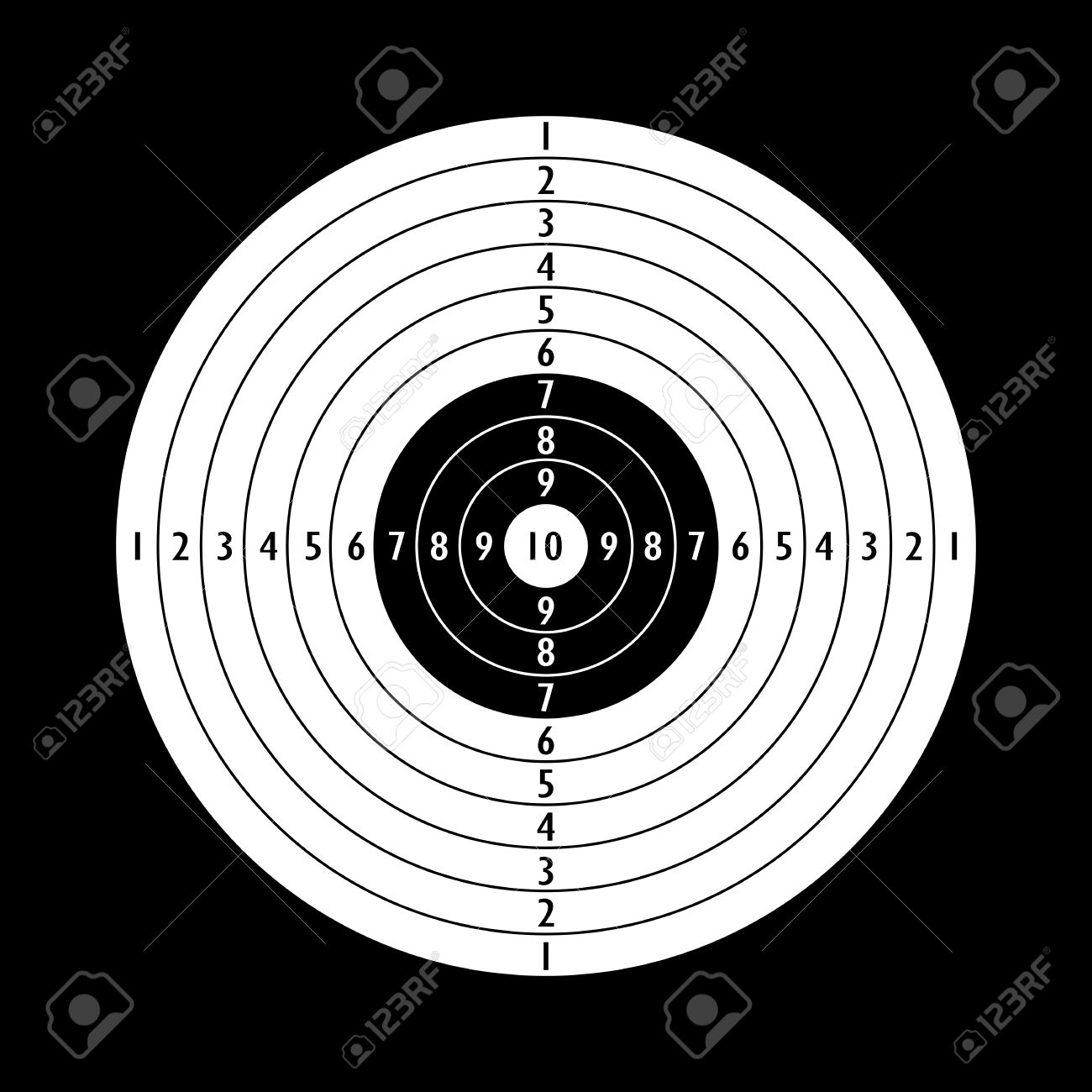 blank shooting target template royalty free cliparts vectors and