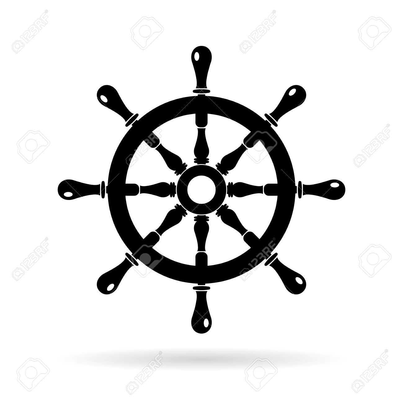 boat steering wheel vector icon royalty free cliparts vectors and stock illustration image 67623668 boat steering wheel vector icon