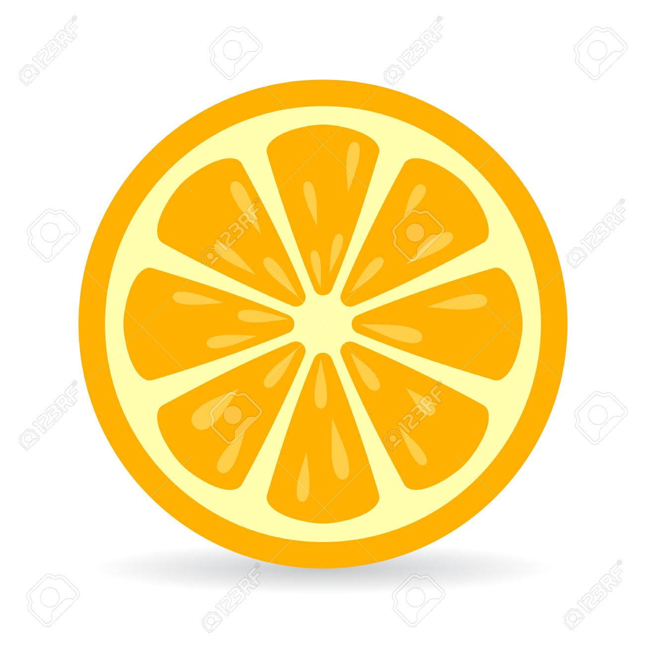 orange slice vector icon royalty free cliparts vectors and stock rh 123rf com orange vector background hd background vector orange