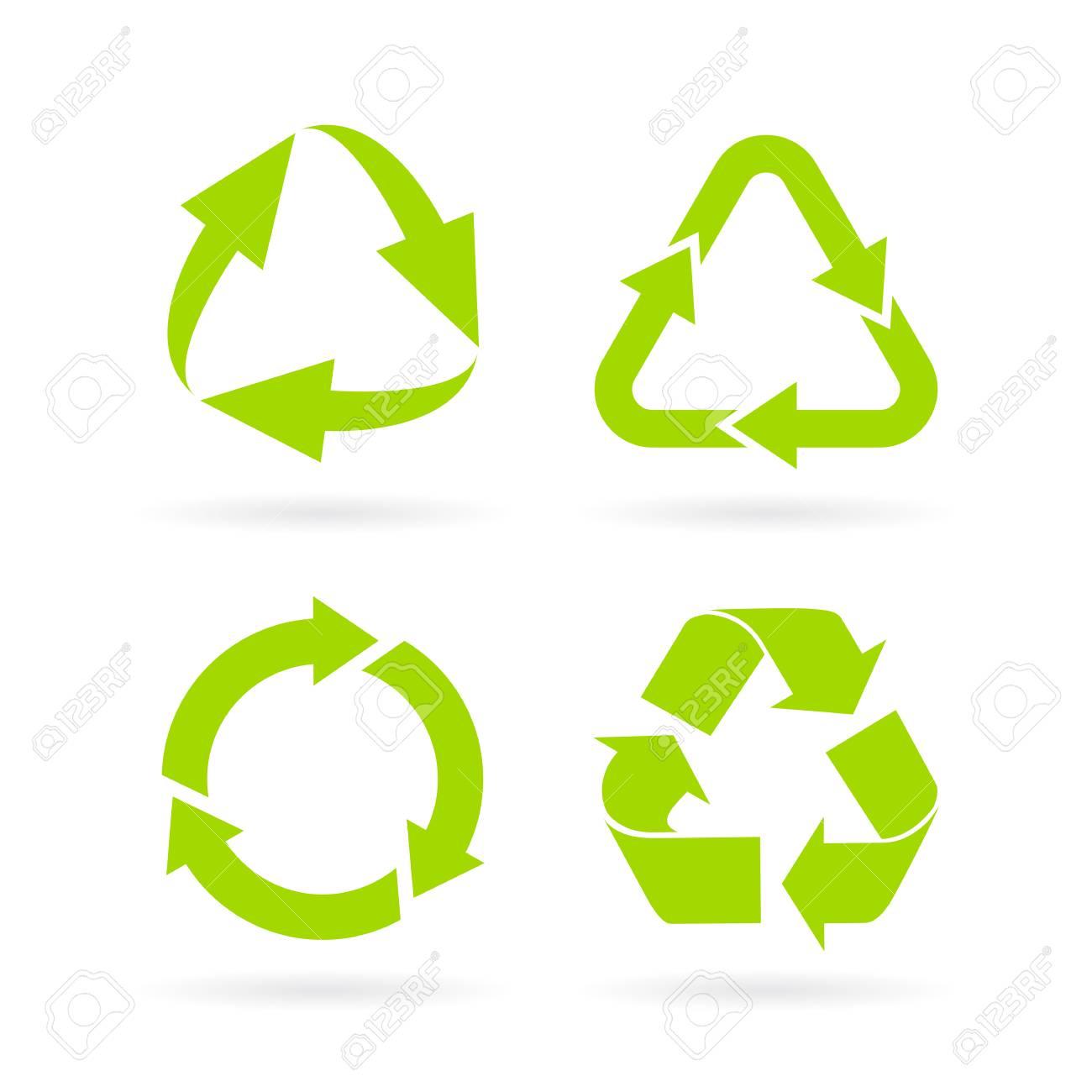 Eco green recycled symbol set royalty free cliparts vectors and eco green recycled symbol set stock vector 71050555 biocorpaavc
