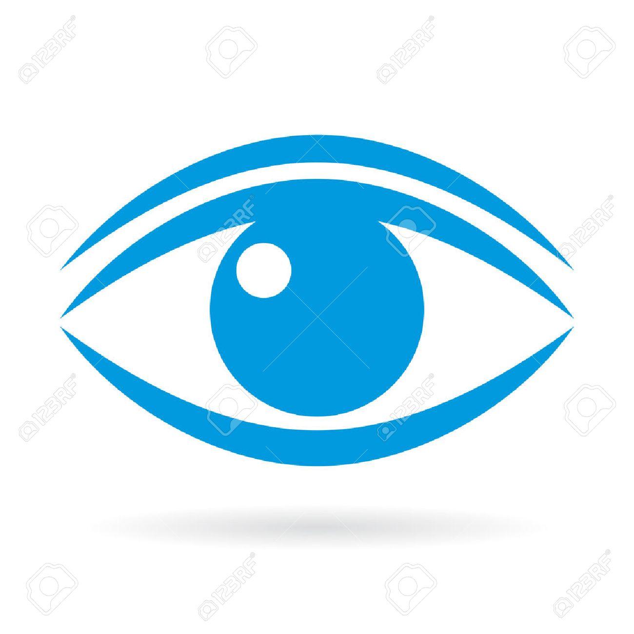 Blue eye vector icon - 72875058